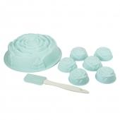 Набор форм силиконовых для выпечки (кекс Роза,мафины Роза-6шт,лопатка)