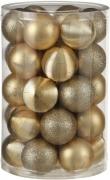 Елочные шарики пластиковые комплект 16 шт цвет золотой 24113