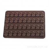 Форма силиконовая для конфет Мишка, 18х13х1см