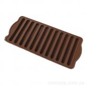 Форма силиконовая для конфет Трубочка, 10х21,5х2см