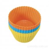 Форма силиконовая для выпечки кексов Корзинка, 12шт, 7см