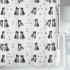 Шторка для ванной текстильная Spirella KITTY PAW