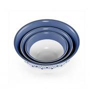 Набор мисок с крышками Tosca 3 шт. синий