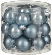 Елочные шарики комплект 24 шт цвет синий 25677