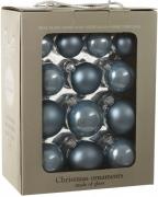 Елочные шарики 26 шт комплект цвет синий 25684