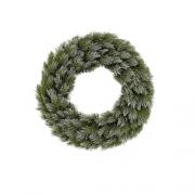 Венок декоративный искусственный зеленый с эффектом покрытия ø 45 см.