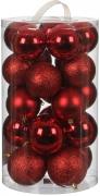 Елочные шарики комплект 23 шт цвет красный 75872