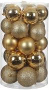 Елочные шарики комплект 23 шт цвет золотой 75889