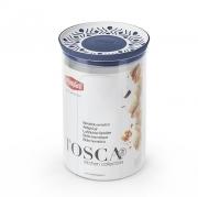 Емкость для хранения продуктов круглая 1,2л Tosca синяя