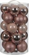Елочные шарики комплект 23 шт цвет розовый