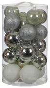 Елочные шарики комплект 23 шт микс оттенки серого