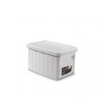 Ящик для хранения с крышкой и фронтальной дверцей Stefanplast ELEGANCE S белая 30020