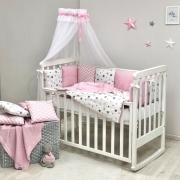 Постельный комплект Baby Design Stars розовый 7 ед.