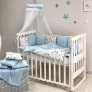 Постельный комплект Baby Design Stars голубой 7 ед.