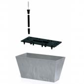 Балконный ящик TUBUS beton 600мм с вкладышем