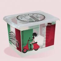 Ящик для хранения ITALY 20,5л с крышкой 1553