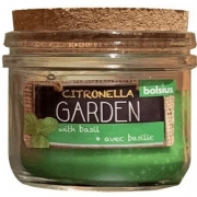 Свеча в стекле с пробкой 80/83мм аромат Citronella Базилик 740317