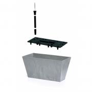 Балконный ящик TUBUS beton 400мм с вкладышем