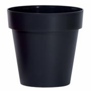 Горшок для цветов CUBE 250мм глянец Антрацит 79951-433