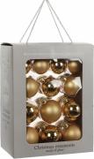 Елочные шарики комплект 26 шт цвет золотой 78101
