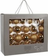 Елочные шарики комплект 42 шт цвет золотой 8118