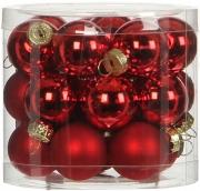 Елочные шарики комплект 24 шт цвет красный 78125