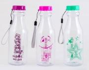 Бутылка для воды прозрачная