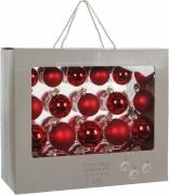 Елочные шарики комплект 42 шт цвет красный 8194