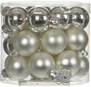 Елочные шарики комплект 24 шт цвет серебро 78200