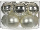 Елочные шарики 10 шт., комплект, цвет серебро 78217