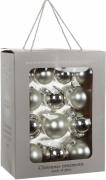 Елочные шарики комплект  26 шт цвет серый 78262