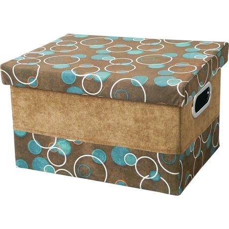 Короб с крышкой Handy Home Шоколад и бирюза M