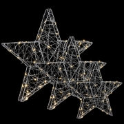 Комплект с 3-х декоративных фигурок Три звездочки 98493