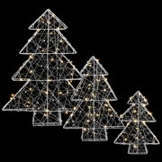 Комплект с 3-х декоративных фигурок Три елки 98509