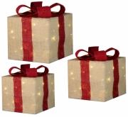 Комплект с 3-х декоративных фигурок Три цветных подарка 98561