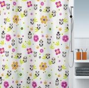 Шторка для ванной текстильная Spirella Panda Life