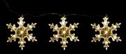 Набор декоративных украшений ø 12 см Три яркие снежинки 98691