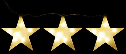 Набор декоративных украшений ø 12 см Три яркие звездочки 98738