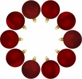Елочные шарики 10 шт., комплект, цвет красный 38826