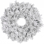 Венок декоративный зеленый со снегом ø 0,45 см.