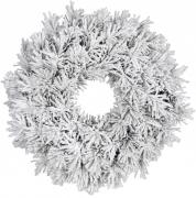 Венок  декоративный зеленый со снегом ø 60 см.
