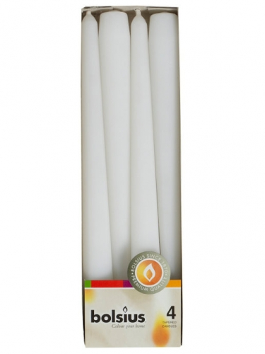 Конусная свеча 245/24 4шт Белая 350902