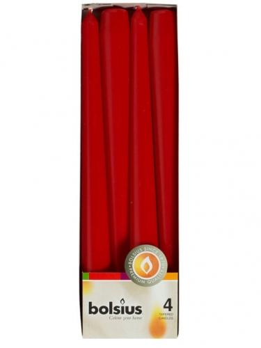 Конусная свеча 245/24  4шт Бордо 350944