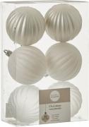 Елочные шарики комплект 6 шт цвет белый 39137