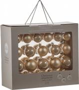 Елочные шарики комплект 42 шт цвет золотистый 39397