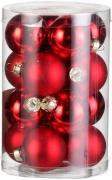 Елочные шарики комплект 16 шт цвет красный 39441