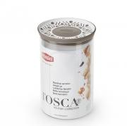 Емкость для хранения продуктов круглая 1,2л Tosca коричневая