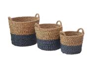 Корзина плетенная для хранения круглая
