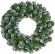 Венок  декоративный Norton зеленый с инеем ø 0,45 см.
