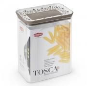 Емкость для хранения продуктов прямоугольная 2,2л Tosca коричневая
